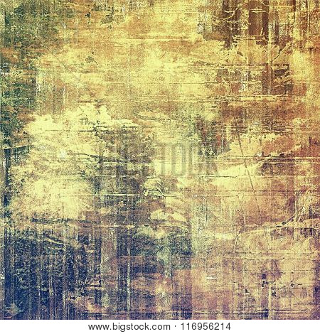 Cracks and stains on a vintage textured background. With different color patterns: yellow (beige); brown; green; purple (violet); gray