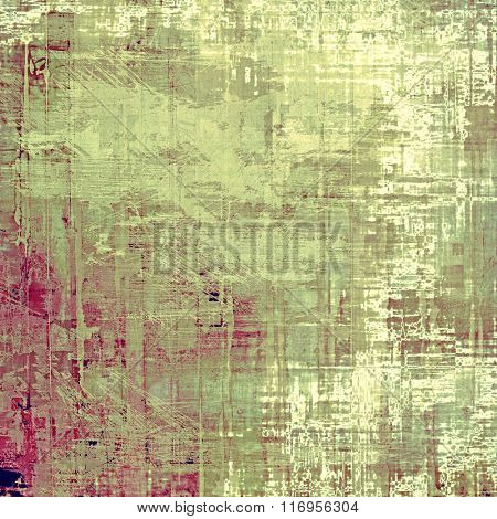 Rough grunge texture. With different color patterns: yellow (beige); brown; green; gray; pink
