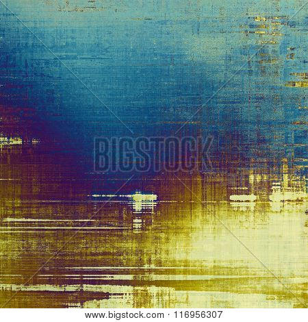 Old background or texture. With different color patterns: yellow (beige); brown; blue; purple (violet); cyan
