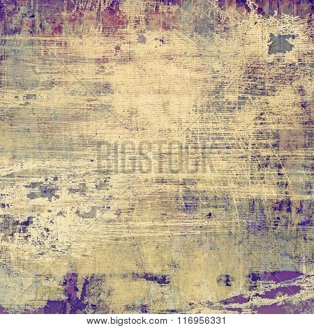 Abstract blank grunge background, old texture with stains and different color patterns: yellow (beige); brown; purple (violet); gray