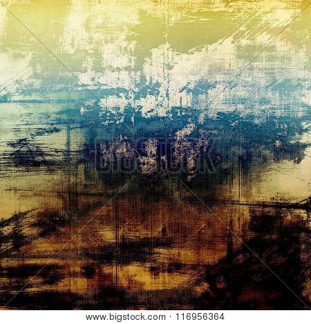 Old scratched retro-style background. With different color patterns: yellow (beige); brown; white; black; blue