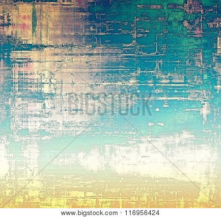 Abstract retro background or old-fashioned texture. With different color patterns: yellow (beige); white; blue; green; pink