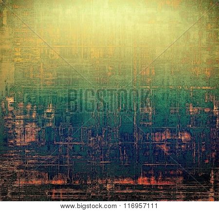 Beautiful antique vintage background. With different color patterns: yellow (beige); brown; blue; green; pink