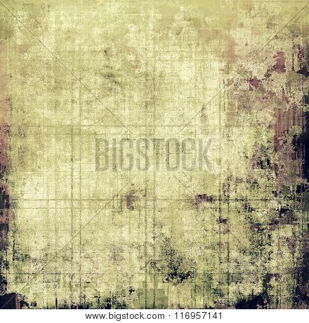 Weathered and distressed grunge background with different color patterns: yellow (beige); brown; white; black; gray