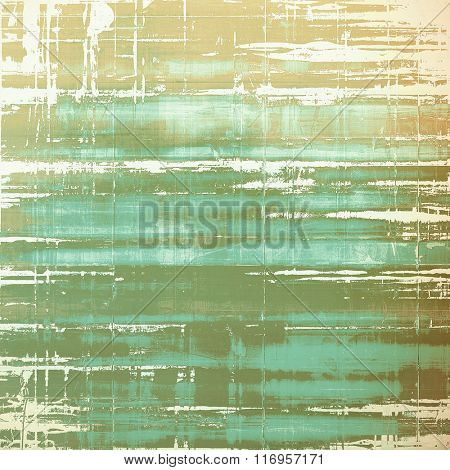 Grunge retro vintage texture, old background. With different color patterns: brown; white; green; cyan; gray