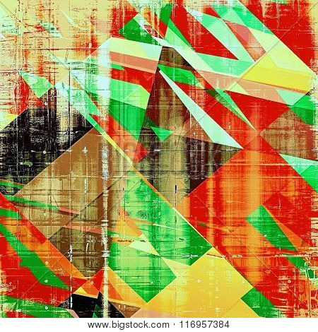 Grunge background or texture for your design. With different color patterns: yellow (beige); brown; red (orange); black; green
