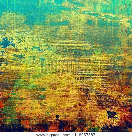 Abstract textured background designed in grunge style. With different color patterns: yellow (beige); brown; red (orange); blue; green