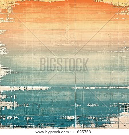 Old scratched retro-style background. With different color patterns: yellow (beige); red (orange); white; blue; cyan
