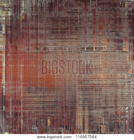 Background with grunge stains. With different color patterns: yellow (beige); brown; red (orange); gray