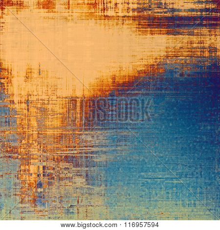 Old scratched retro-style background. With different color patterns: yellow (beige); brown; red (orange); blue; cyan