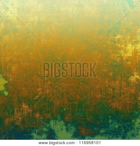 Old texture - ancient background with space for text. With different color patterns: yellow (beige); brown; blue; green; cyan
