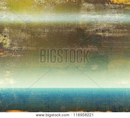 Old abstract grunge background for creative designed textures. With different color patterns: yellow (beige); brown; white; blue; green