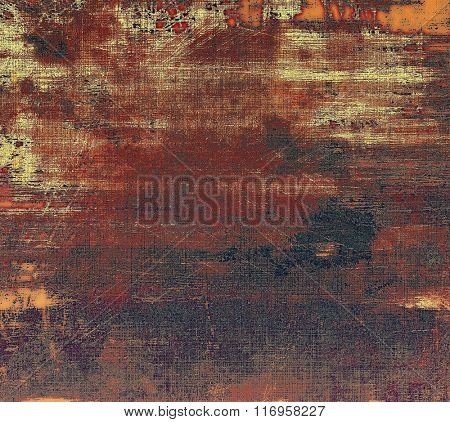 Old scratched retro-style background. With different color patterns: yellow (beige); brown; red (orange); black; gray
