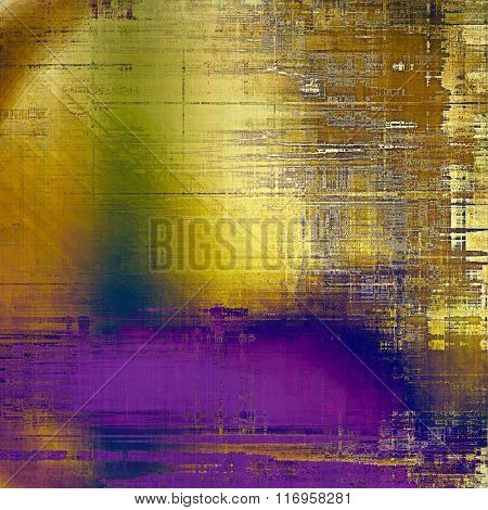 Old school textured background. With different color patterns: yellow (beige); brown; blue; green; purple (violet)