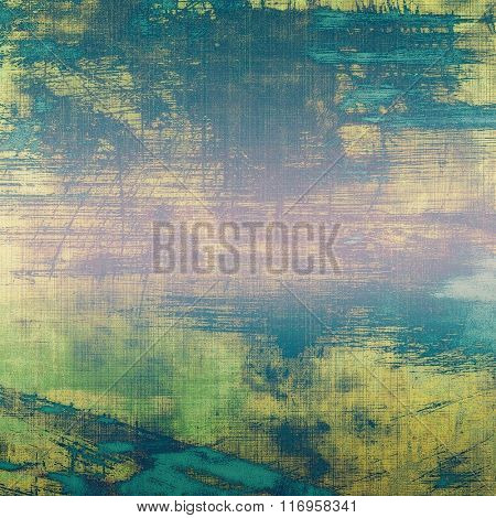 Vintage antique textured background. With different color patterns: yellow (beige); blue; green; cyan; pink