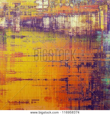Old grunge antique texture. With different color patterns: yellow (beige); brown; red (orange); blue; purple (violet)