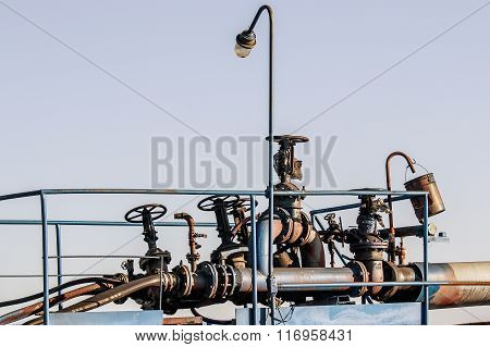 valves on the pipes