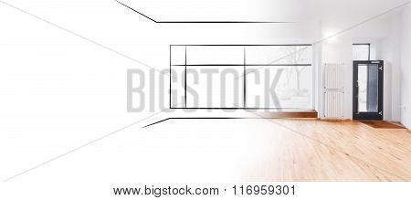 Retail Store,  Shop Sketch And Photo Interior Design Concept -