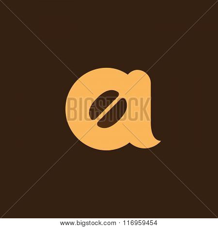 Letter A Coffee Logo Icon Design Template Elements