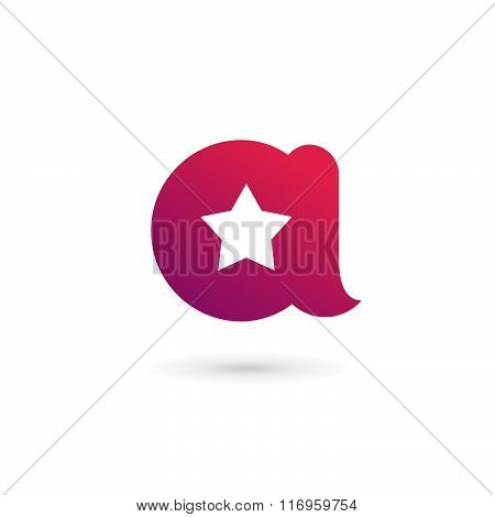 Letter A Star Logo Icon Design Template Elements