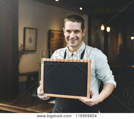 Cafeteria Coffee Restaurant Waiter Apron Barista Concept