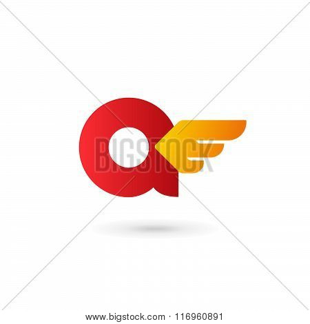 Letter A Wing Logo Icon Design Template Elements