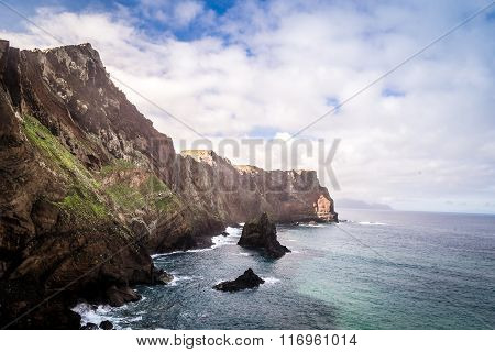 Beautiful Views On Trail To Ponto Do Sao Lourenco, Madeira