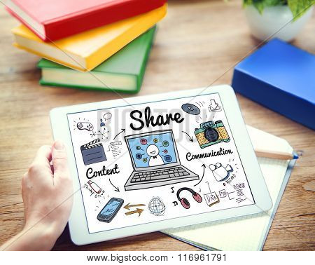 Share Global Communication Networking Portion Concept