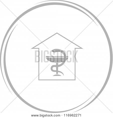 pharmacy. Internet button. Raster icon.