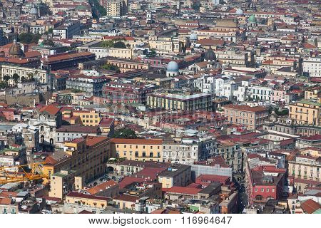 Rooftops Of Naples Old Town, Italy