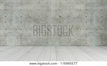 Concrete Wall Loft Style Decor, Background, Template Design