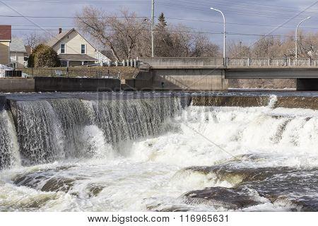Waterfalls in winter