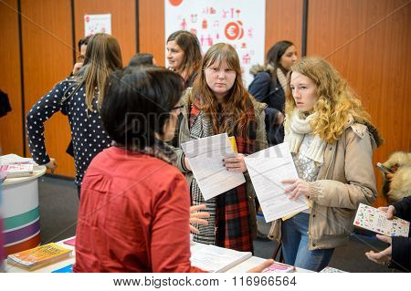Education Fair To Choose Career Path And Vocational Counseling