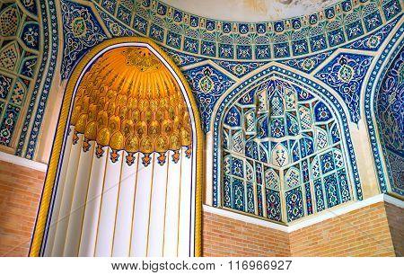 The Mihrab In Qaldirghochbiy Mausoleum