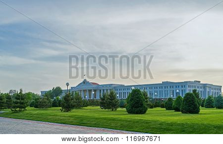 The Parliament Building In Tashkent