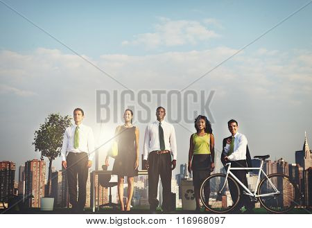 Green Business Ecology Healthy Urban Scene Concept