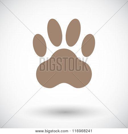 Paw icon flat