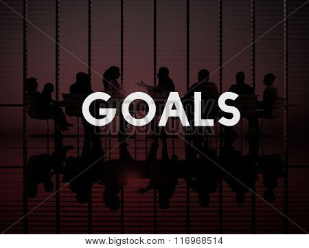 Goals Aspiration Target Vision Confidence Hopeful Concept