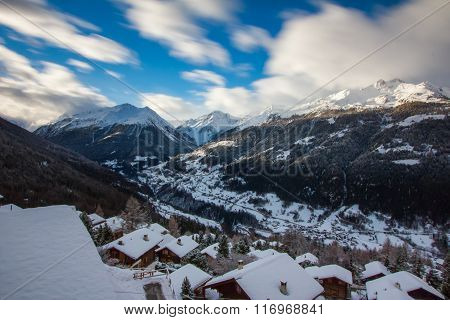 Swiss mountain panorama