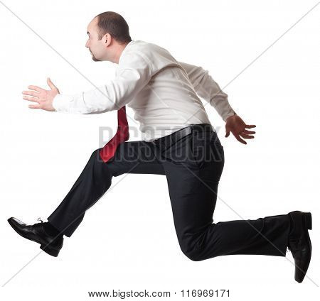 jumping man isolated on white