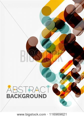Geometrical vector background, circle shapes