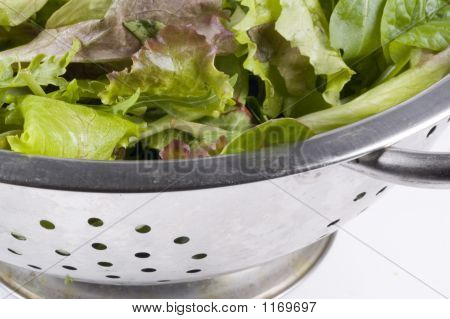 Collander With Lettuce