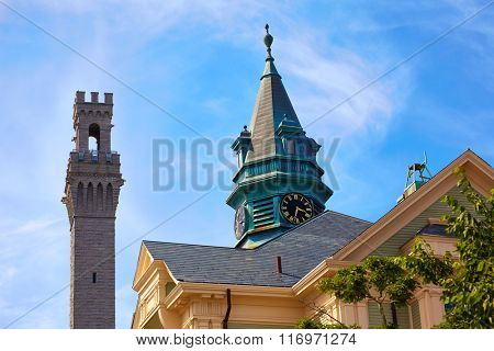 Cape Cod Provincetown Pilgrim tower in Massachusetts USA