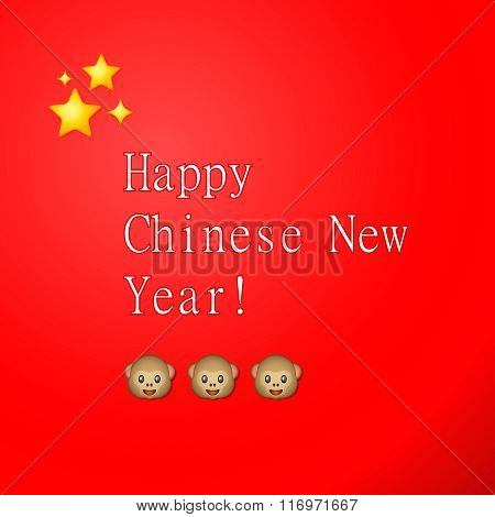 Happy Chinese New Year, greeting card, vector illustration.