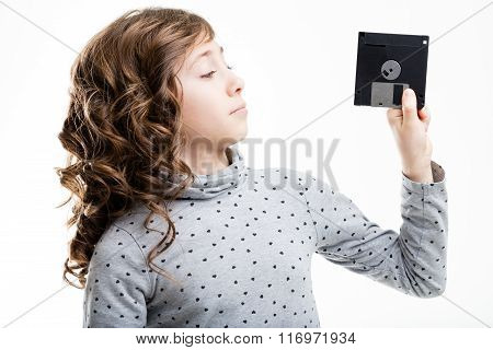 Floppy Disk Is Unknown For This Little Girl