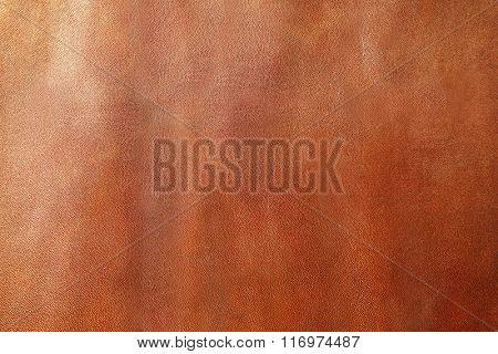 Brown leather texture with uneven surface
