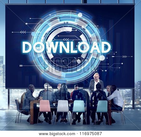 Download Data Files Information Software Concept