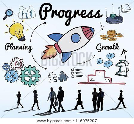 Progress Innovation Inprovement Advance Growth Concept