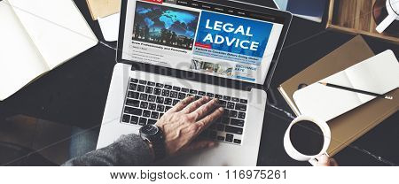 Legal Advice Headline News Feed Concept