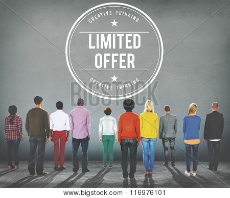 Limited Offer Team Promotion Service Concept